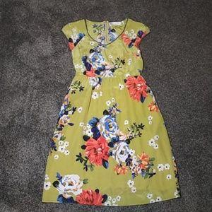 Antropologie MOULINETTE SOEURS Silk Dress SZ 4